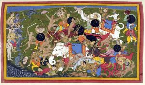 800px-Battle_at_Lanka,_Ramayana,_Udaipur,_1649-53